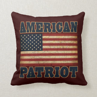 American Patriot Flag Throw Pillow