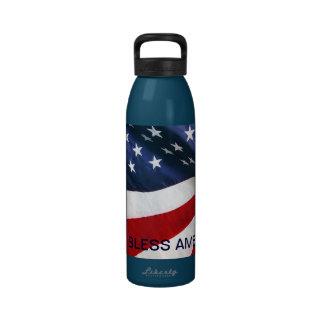American Patriot God Bless America Water Bottle