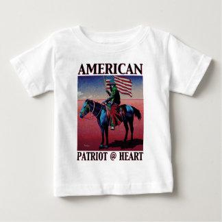 American Patriot @ Heart by David Parker Fine Art Baby T-Shirt