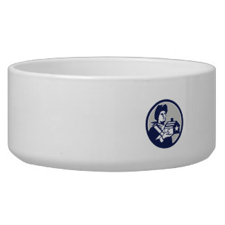 American Patriot Holding House Circle Retro Bowl