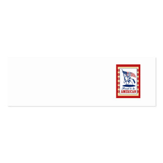 American Patriot Independence Day Poster Greeting Business Card