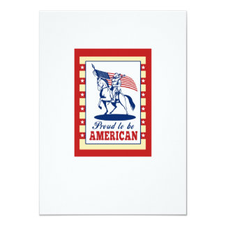 American Patriot Independence Day Poster Greeting 4.5x6.25 Paper Invitation Card