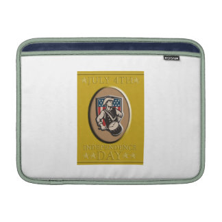 American Patriot Independence Day Poster Greeting Sleeves For MacBook Air