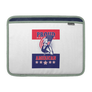 American Patriot Independence Day Poster Greeting MacBook Air Sleeve