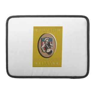 American Patriot Independence Day Poster Greeting Sleeves For MacBook Pro