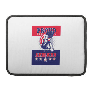 American Patriot Independence Day Poster Greeting Sleeves For MacBooks