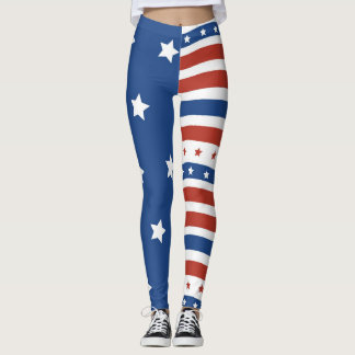American Patriot Keep America Great Old Glory Leggings
