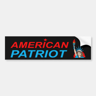American Patriot Liberty Tattoo Car Bumper Sticker