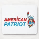 American Patriot Liberty Tattoo Mouse Pad
