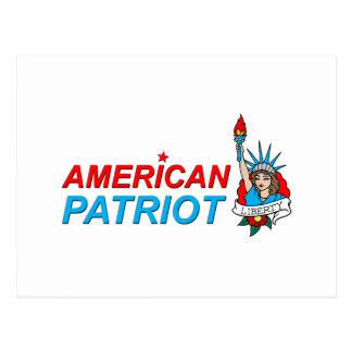 American Patriot Liberty Tattoo Postcard