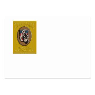 American Patriot Memorial Day Poster Greeting Card Business Card