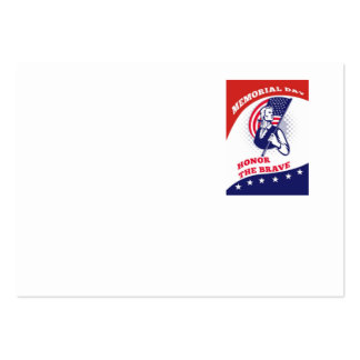 American Patriot Memorial Day Poster Greeting Card Business Cards