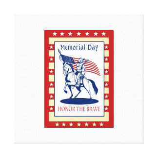 American Patriot Memorial Day Poster Greeting Card Canvas Prints