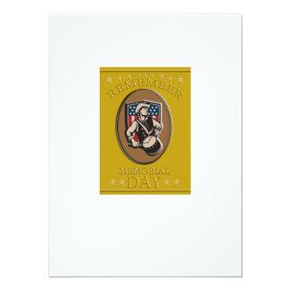 "American Patriot Memorial Day Poster Greeting Card 5.5"" X 7.5"" Invitation Card"