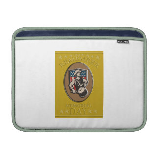 American Patriot Memorial Day Poster Greeting Card Sleeve For MacBook Air