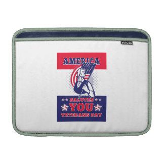 American Patriot Memorial Day Poster Greeting Card MacBook Air Sleeve