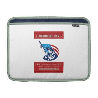 American Patriot Memorial Day Poster Greeting Card MacBook Sleeve