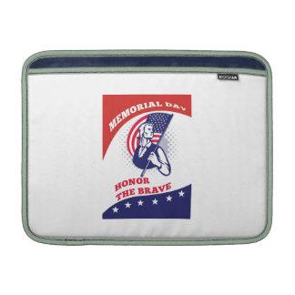 American Patriot Memorial Day Poster Greeting Card MacBook Sleeves
