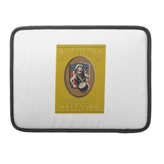 American Patriot Memorial Day Poster Greeting Card Sleeve For MacBooks