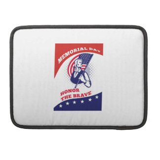 American Patriot Memorial Day Poster Greeting Card MacBook Pro Sleeves