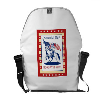 American Patriot Memorial Day Poster Greeting Card Courier Bag
