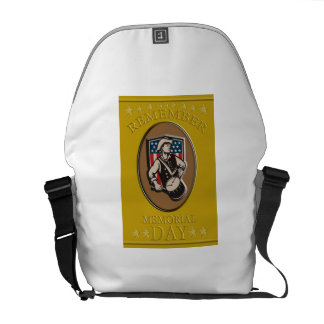 American Patriot Memorial Day Poster Greeting Card Courier Bags