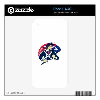 american patriot minuteman flag retro iPhone 4S skins