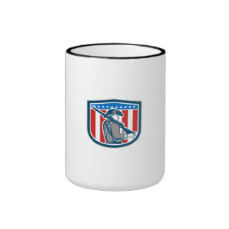 American Patriot Minuteman Holding Musket Rifle Sh Coffee Mug