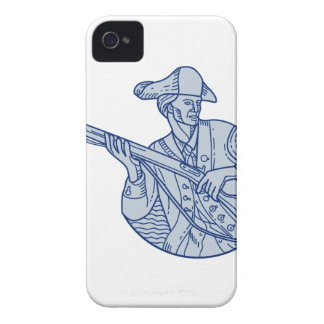 American Patriot Minuteman Rifle Mono Line iPhone 4 Case-Mate Case