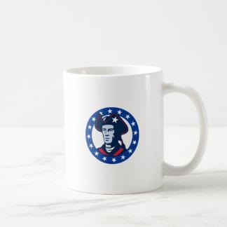 american patriot minuteman stars retro mug