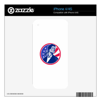 American Patriot Minuteman Stars Stripes Flag Decals For iPhone 4S