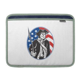 American Patriot Minuteman With Bayonet Rifle And MacBook Sleeves