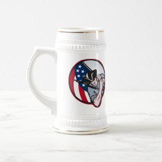 American Patriot Minuteman With Flag Coffee Mugs