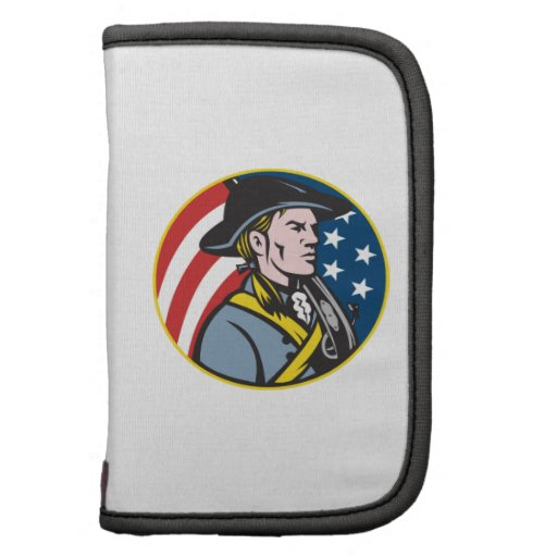 American Patriot Minuteman With Flag Retro Planner