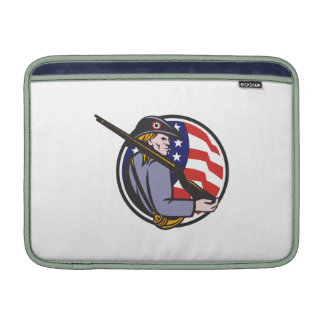 American Patriot Minuteman With Rifle And Flag MacBook Air Sleeve