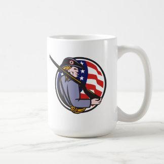 American Patriot Minuteman With Rifle And Flag Mug