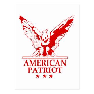 American Patriot (red) Postcard