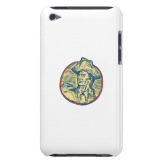 American Patriot Side Circle Etching iPod Case-Mate Case