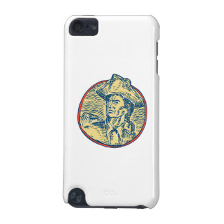 American Patriot Side Circle Etching iPod Touch 5G Cases