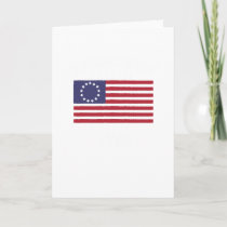 American Patriot Since 1776 USA Flag Veterans Day Card