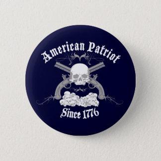 American Patriot Skull 1776 Pinback Button