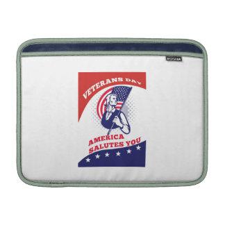 American Patriot Veterans Day Poster Greeting Card MacBook Air Sleeve
