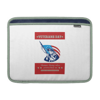 American Patriot Veterans Day Poster Greeting Card Sleeves For iPads