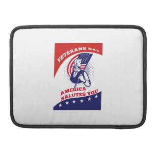 American Patriot Veterans Day Poster Greeting Card Sleeve For MacBook Pro