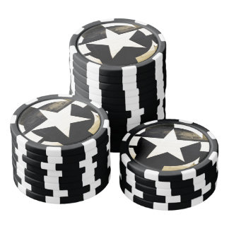 American Patriot Vintage Air Corps Star Poker Chips