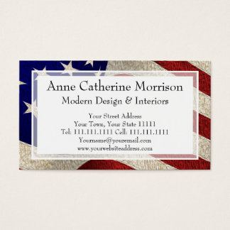 American Patriot Vintage Stars and Stripes US Flag Business Card