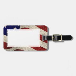 American Patriot Vintage Stars and Stripes US Flag Luggage Tag