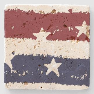 American Patriotic Distressed Stripes Coaster