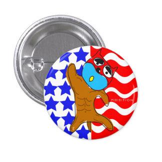 American Patriotic Dog Button