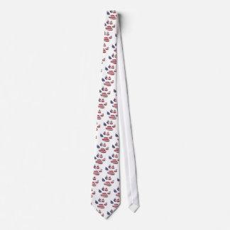 American patriotic dog neck tie